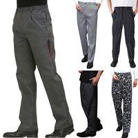 Work Pants Kitchen Trousers Staff Chef Cook PLUS SIZE Baggy Uniform Slacks Hot