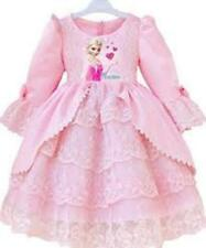 Frozen Elsa Princess Costume Pink Bo Peep Kids party fancy dress SIZE 140 7/8 yr