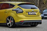 Heckansatz Heckeinsatz Diffusor aus ABS für Ford Focus 3 DYB