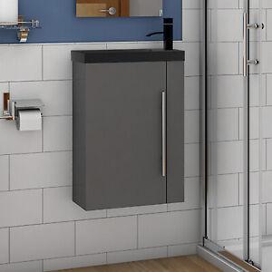 Waschtisch 45 cm Waschbecken mit Unterschrank Gäste WC Badmöbel Set klein Loft