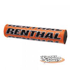 "Renthal SX Bar Pad -ORANGE- Crossbar Pad -10""- High Density Foam MX Offroad Moto"
