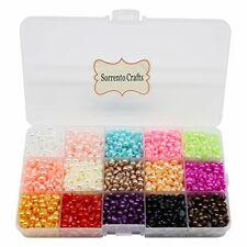 PEARL 3300pcs 6mm Mixed 15 Colors Half Bead Flat Back Gem Plastic Box 1box#25