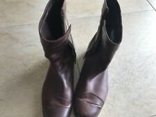 MEN'S DIESEL BOOTS BROWN LEATHER SIZE 42