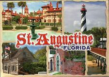 St. Augustine Florida, Lighthouse, School House, Oldest City in US FL - Postcard