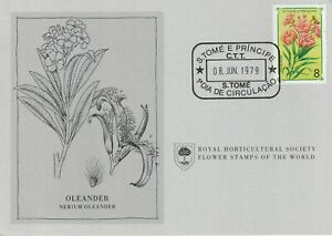 Flower Stamps of The World 1979 FDC card St. Thomas and Principe