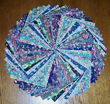 "64 Country Floral Calico Fabric 5"" Quilt Squares Bundle Cotton Charm pack"
