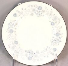 SET 6 VINTAGE WEDGWOOD BONE CHINA BELLE FLEUR R4356 SALAD PLATES BLUE SILVER RIM