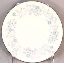SET 6 VINTAGE WEDGWOOD BONE CHINA BELLE FLEUR R4356 SALAD PLATES BLUE SILVER RIM