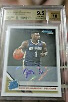 💥2019 Donruss rated rookies auto Zion Williamson BGS9.5 not Panini Prizm silver