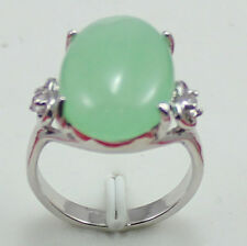 exquisite green red black jade 18 KGP wedding party ring
