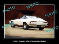 OLD LARGE HISTORIC PHOTO OF 1970 GM HOLDEN TORANA GTR X LAUNCH PRESS PHOTO 3