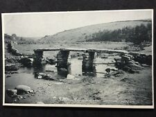 Vintage Postcard - Devon #65 - RP Dartmoor, Clapper Bridge - Judges Ltd