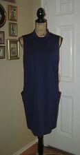 NWT ~ BETSEY JOHNSON Retro Style Navy Blue Kint Sleeveless Tunic ~ SZ 8