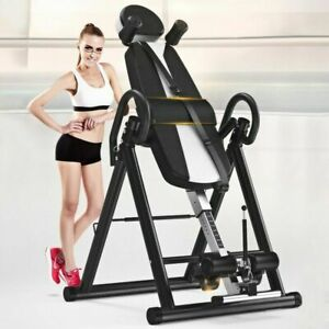 Foldable Gravity Inversion Table Back Therapy Folding Fitness Inverter Machine