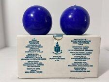 PartyLite Starburst Candles 2 Royal Blue Glitter Balls Q3664 25-35 Hours New