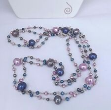 "LOVELY HONORA FRESH WATER PEARL NECKLACE 48"" LONG ROYALE TIN CUP NEW"