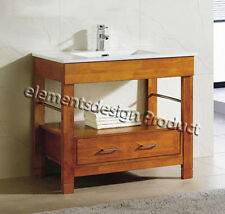 "36""Bathroom Vanity 36-inch Cabinet Ceramic Top Integrated Sink CG- Cinnamon"