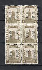 China Manchukuo Scott #36 Mnh F/Vf Block of 6 Fresh, bright, great stamps!