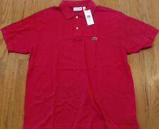 Mens Authentic Lacoste Classic Pique Polo Shirt Fuschia 7 2XL $89