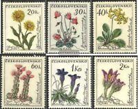 Tschechoslowakei 1234-1239 (kompl.Ausg.) gestempelt 1960 Blumen