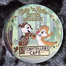 Disney Button Dining Chip Dale Critter Breakfast Storyteller Cafe Disneyland OLD