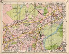 SW LONDON. Hounslow Isleworth Osterley Brentford Richmond Osterley 1953 map