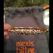 Alexis Bittar Miss Havisham Skinny Bangle Stone Encrusted Rose Gold Nwot