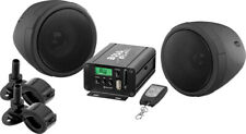 BOSS AUDIO 600 WATT 2 SPEAKER SOUND SYSTEM BLACK HONDA MOTORCYCLES ALL