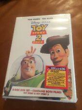 DISNEY PIXAR TOY STORY 1 & 2 DVD MOVIE 2 PACK SET SEALED NEW!