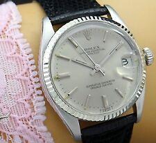 ROLEX DATEJUST CHRONOM. DATE Automatic Damen(Unisex)) Uhr in St./18K 750 Weissg.