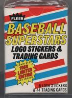 Baseball Superstars Fleer Stickers/Cards Fleer 1988 Box 110520MLCD2