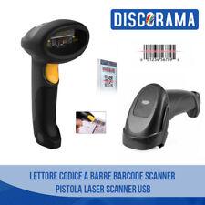 LETTORE CODICE A BARRE BARCODE SCANNER PISTOLA LASER SCANNER USB PREZZO