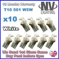 10 x WHITE T10 501 W5W LED Sidelight Bulbs
