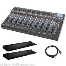 Citronic CM10-LIVE 10 Channel Live + Studio Mixing Desk Mixer + USB SD + Effects