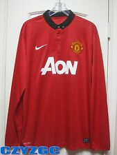 BNWT Manchester United 2013-2014 Long-Sleeves Home Shirt XL