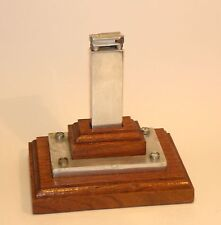 1940's skyscraper art deco machine age aluminum schaeffer desk liftarm lighter