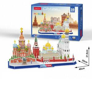 Cubic Fun - 3D Puzzle Stadtansicht City Line Moskau Russland