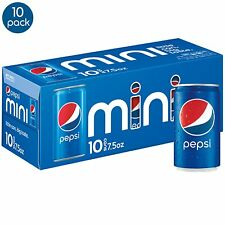 Pepsi Soda, 7.5 Ounce Mini Cans, 10 Pack