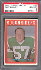 1972 OPC CFL FOOTBALL #87 GARY BRANDT PSA 10 GEM-MINT SASKATCHEWAN ROUGHRIDERS