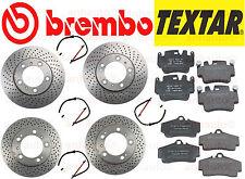 BREMBO Rotors  TEXTAR Pads Sensors Porsche 911 1999-2005 Carrera 996