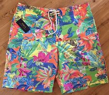 POLO RALPH LAUREN MAIN BEACH SHELTER ISLAND LONG SWIM SHORTS SIZE 32 RETAIL £125
