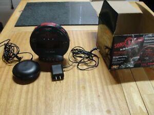 Sonic Boom SBB500ss Sonic Bomb Loud Plus Vibrating Alarm Clock (354I)
