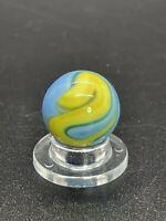 "Christensen Agate Marble CAC Swirl Marble Blue/Yellow Christensen Marble 0.591"""