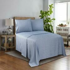 Bed Sheet Set Soft Wrinkle Resistant 100% Soft Polyester Microfiber Blue