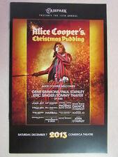 ALICE COOPER'S CHRISTMAS PUDDING 2013 CONCERT PROGRAM KISS JOAN JETT VINCE NEIL