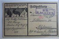 AK Deutschland Feldpostkarte Feldpost 1916 gebraucht #PG636