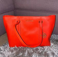 MICHAEL KORS JET TRAVEL SHOULDER TOTE BAG MK RED