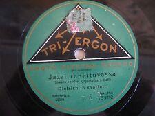 disque vinyle 78 tours tri ergon jazz changement d'esclave Dietrich quartet