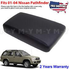 Fits 2001-2004 Nissan Pathfinder Leather Center Console Lid Armrest Cover Black