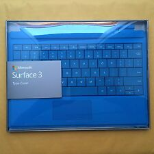 Microsoft Surface 3 Type Cover Keyboard  w/Backlighting  Bright  Blue/Cyan